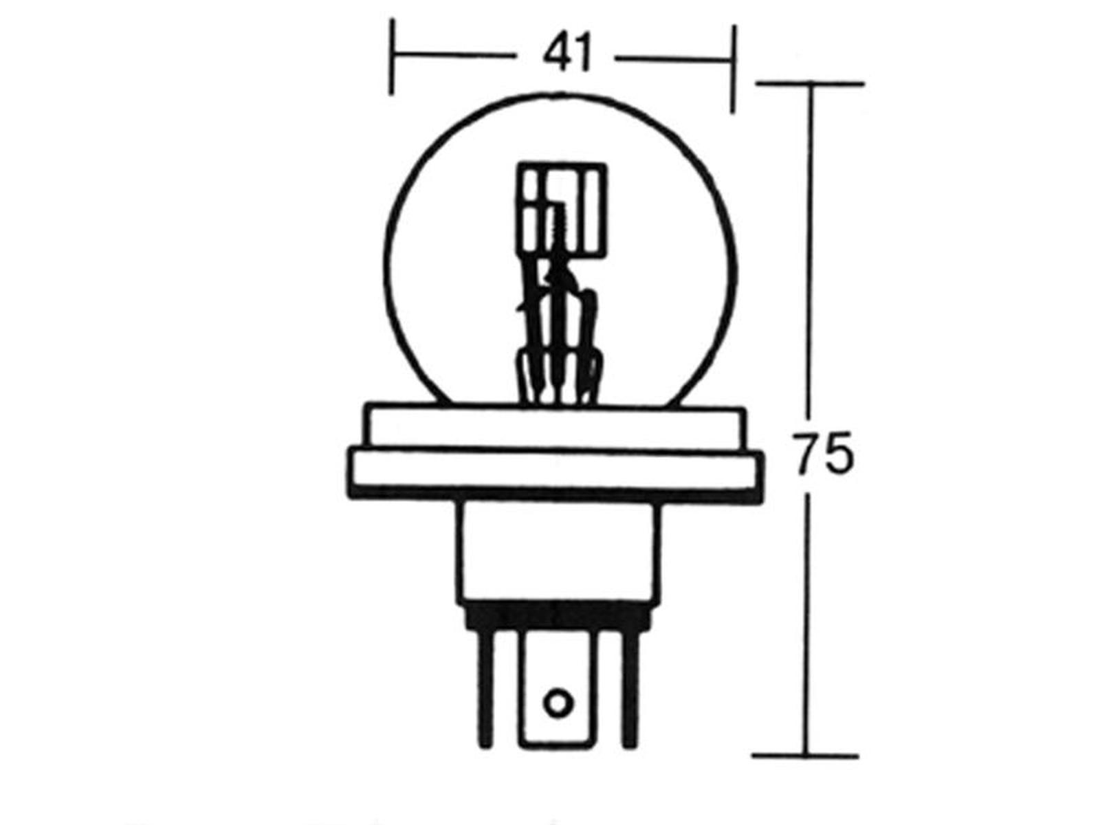 GLÜHLAMPE 6V 45/40W P45T
